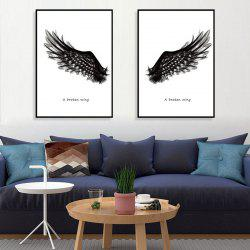 3D Creative Wings Removable PVC Window Film Wall Sticker -