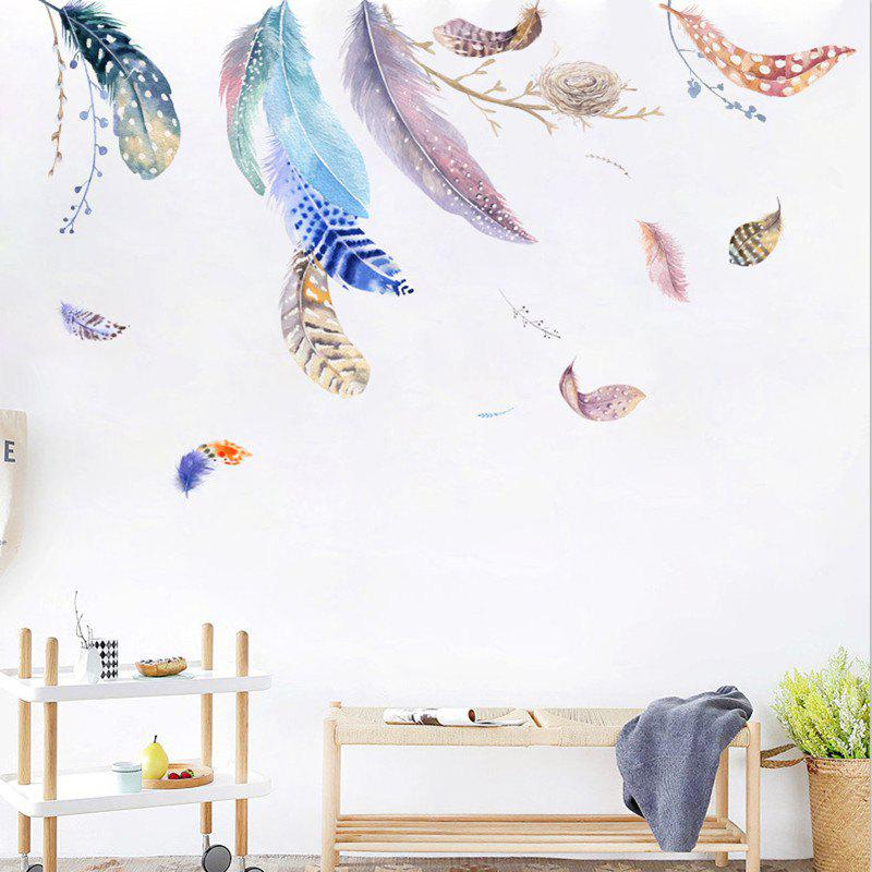 Float Feather Bird Nest Sofa Tv Shop Background Wall Decoration Wall Painting
