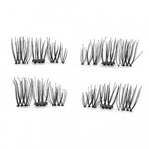 4pcs 3D Magnetic False Eyelashes Natural Soft Makeup Reusable Magnet Extension -