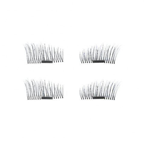 4pcs 3D Magnetic False Eyelashes Natural Soft Makeup Reusable Magnet Extension NOIR B