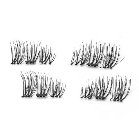 4pcs 3D Magnetic False Eyelashes Natural Soft Makeup Reusable Magnet Extension