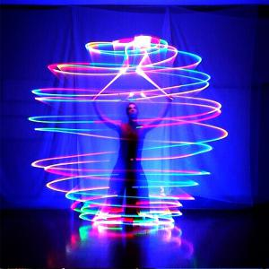YouOKLight New Fashion RGB 3LED POI Thrown Balls for Professional Belly Dance Level Hand Props -