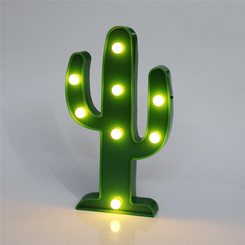 Home Decoration Cactus Shape Decoration LED Night LightHOME<br><br>Color: GREEN; Type: Decorative Lighting; Decorative Style: Nordic Style,Simple and Modern; For: Home,Office,Cafe,Clothing Store; Material: ABS; Features: Creative,Gift; Power Supply: Battery; LED Quantity: 8; Power (W): 3; Package Quantity: 1 x Light; Product weight: 0.2200 kg; Package weight: 0.2300 kg; Product size (L x W x H): 26.00 x 15.50 x 2.80 cm / 10.24 x 6.1 x 1.1 inches; Package size (L x W x H): 28.00 x 17.00 x 3.00 cm / 11.02 x 6.69 x 1.18 inches; Package Contents: 1 x Light;