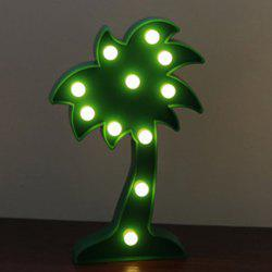 Home Decoration Coconut Tree Shape Decoration LED Night Light Table Lamp -