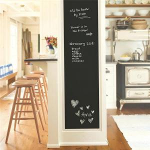 DIY Chalkboard Decals Removable Washable Blackboard Wall Stickers for Refrigerator Kitchen Cabinets -