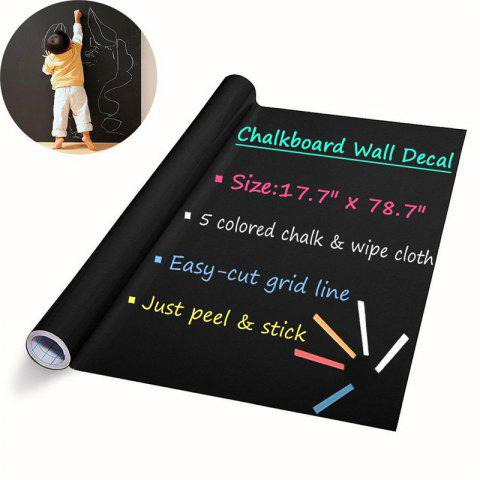 Outfit DIY Chalkboard Decals Removable Washable Blackboard Wall Stickers for Refrigerator Kitchen Cabinets