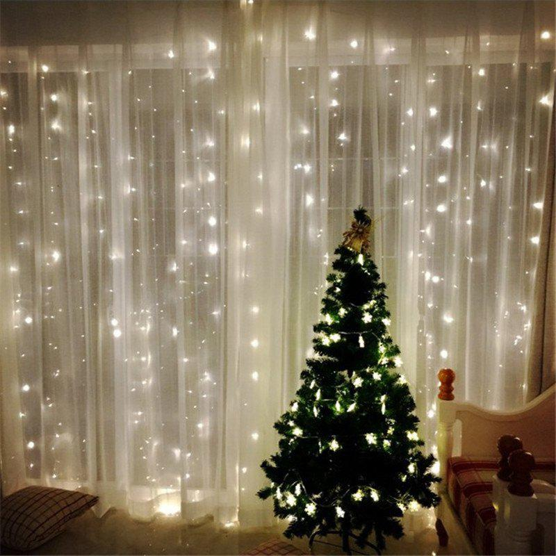 3M*3M 8-modes 304pcs-Lights Light String  White Lights Decorative LightsHOME<br><br>Color: WHITE LIGHT; Type: Decorative Lighting; For: Home,Bar; Material: ABS; Features: Adjustable brightness; LED Quantity: 304; Cable length: 3M*3M; Voltage(V): 220?V?; Product weight: 0.3900 kg; Package weight: 0.4000 kg; Product size (L x W x H): 300.00 x 2.00 x 2.00 cm / 118.11 x 0.79 x 0.79 inches; Package size (L x W x H): 20.00 x 25.00 x 5.00 cm / 7.87 x 9.84 x 1.97 inches; Package Contents: 1 x Light string;