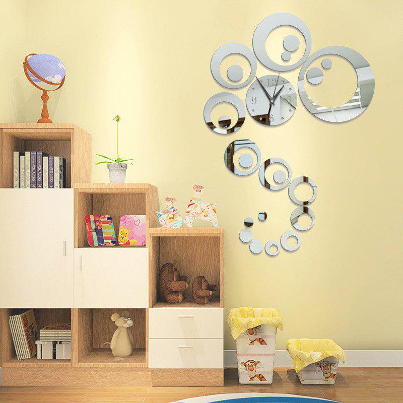 DIY Circle Acrylic Mirror Wall Stickers Wall Clock Stickers