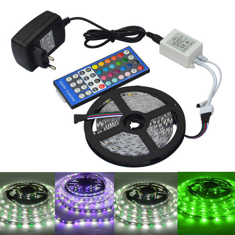 2019 jiawen 5m 5050 rgbw led light strip remote controller 12v 2a power supply rgb white. Black Bedroom Furniture Sets. Home Design Ideas