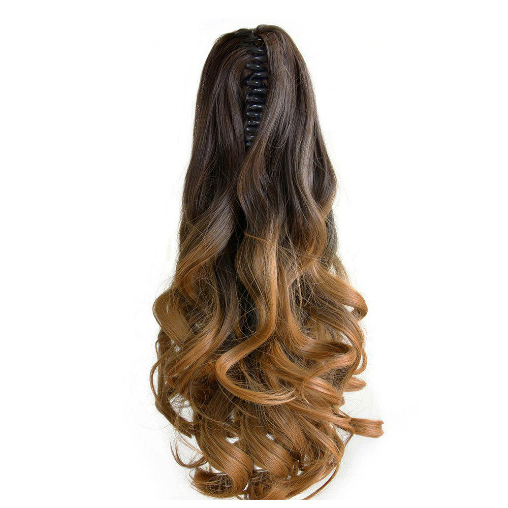 TODO 20 inch Ombre Claw 7-piece 16-clip Synthetic Hair ExtensionsHAIR<br><br>Size: 20INCH; Color: OMBRE PT2/30#; Brand: TODO; Type: synthetic hair extension; Wig Length: Medium; Wig Style: Body Wave,Bouncy Curly,Natural Wave,Water Wave; Stretched Length: 20inches; Wig Color: Gray,Multi-color; Material: High Temperature Fiber;