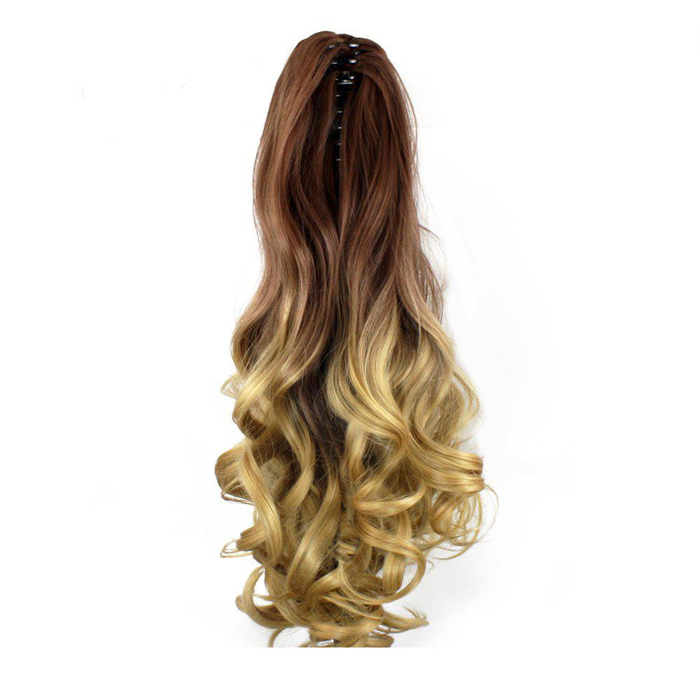 TODO 20 inch Ombre Claw 7-piece 16-clip Synthetic Hair ExtensionsHAIR<br><br>Size: 20INCH; Color: OMBRE 4/8/30#; Brand: TODO; Type: synthetic hair extension; Wig Length: Medium; Wig Style: Body Wave,Bouncy Curly,Natural Wave,Water Wave; Stretched Length: 20inches; Wig Color: Gray,Multi-color; Material: High Temperature Fiber;