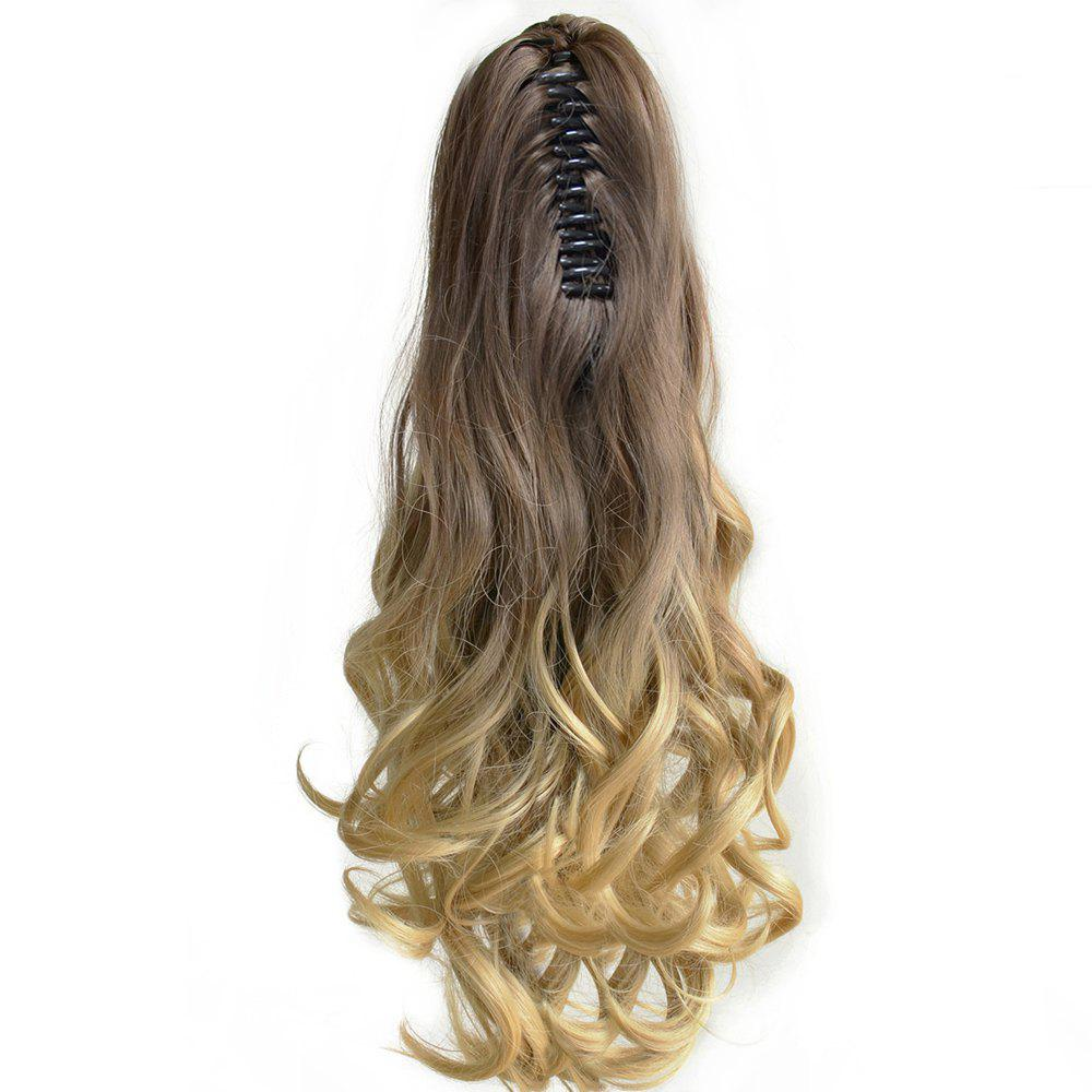TODO 20 inch Ombre Claw 7-piece 16-clip Synthetic Hair ExtensionsHAIR<br><br>Size: 20INCH; Color: OMBRE 613H2403AHPINK2#; Brand: TODO; Type: synthetic hair extension; Wig Length: Medium; Wig Style: Body Wave,Bouncy Curly,Natural Wave,Water Wave; Stretched Length: 20inches; Wig Color: Gray,Multi-color; Material: High Temperature Fiber;
