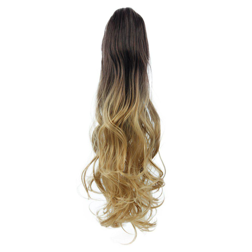 TODO 20 inch Ombre Claw 7-piece 16-clip Synthetic Hair ExtensionsHAIR<br><br>Size: 20INCH; Color: OMBRE 613H2513BHBLUE2#; Brand: TODO; Type: synthetic hair extension; Wig Length: Medium; Wig Style: Body Wave,Bouncy Curly,Natural Wave,Water Wave; Stretched Length: 20inches; Wig Color: Gray,Multi-color; Material: High Temperature Fiber;