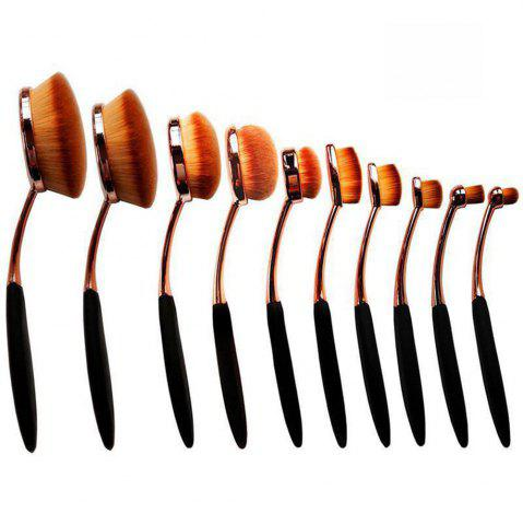 Best TODO 10pcs All in One Professional Oval Makeup Brushes Tools