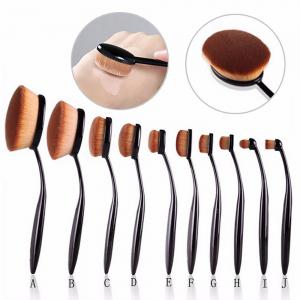 TODO 10pcs All-in Professional Oval Makeup Brushses -