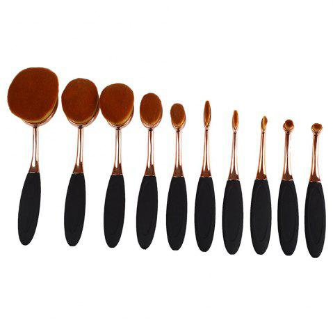 New TODO 10pcs All in One Professional Oval Makeup Brushses - GOLD  Mobile