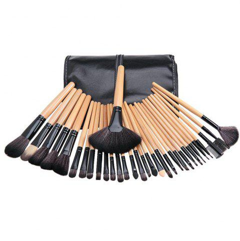 Latest TODO 32pcs Professional Makeup Brushes with Carry Case WOODEN COLOR