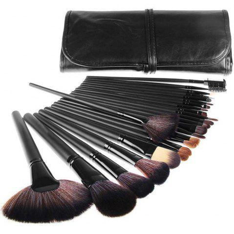 Trendy TODO 24pcs High Quality Micro Fiber Makeup Brushes - BLACK COLOR  Mobile