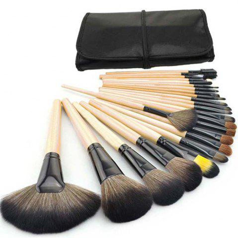 Cheap TODO 24pcs High Quality Micro Fiber Makeup Brushes WOODEN COLOR