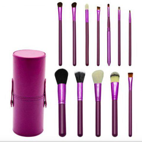 Hot TODO 12pcs Makeup Brushes Cosmetic Tool with Cup Holder Case - PURPLE  Mobile