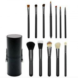 TODO 12pcs Makeup Brushes Cosmetic Tool with Cup Holder Case -