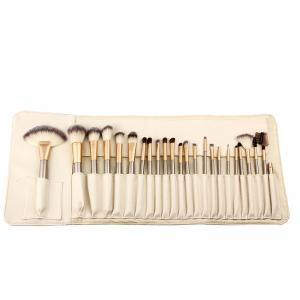 TODO 24pcs Professional Champagne Color Makeup Brushes Classic Wood Handle - CHAMPAGNE