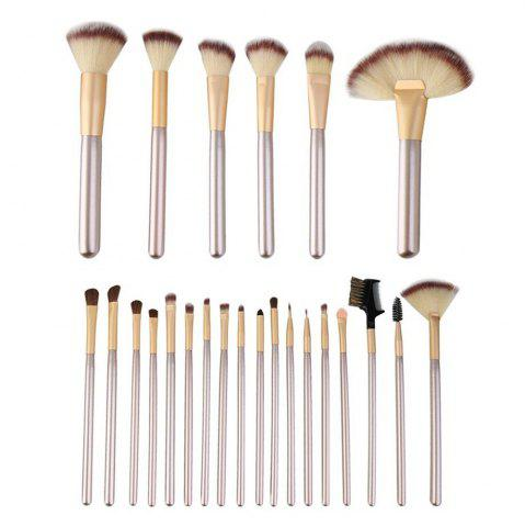 Affordable TODO 24pcs Professional Champagne Color Makeup Brushes Classic Wood Handle CHAMPAGNE