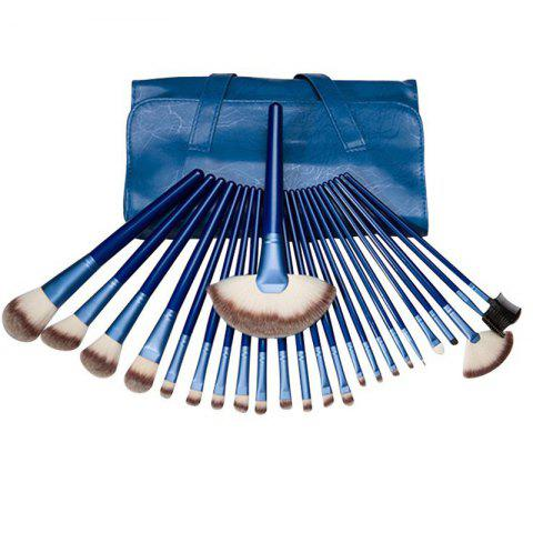 Cheap TODO 24pcs Royal Blue Professional Makeup Brushes Wood Handle ROYAL