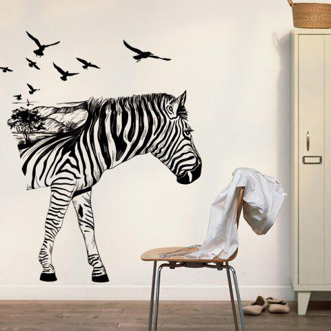 Black Yeduo Zebra D Stereo Hallway Wall Stickers Creative Home - Wall decals hallway