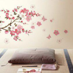 YEDUO Plum Flower Bedroom Decal Art Decor Wall Sticker   PINK