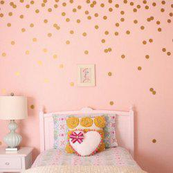 YEDUO 54 Gold Polka Dots Wall Sticker Baby Nursery Stickers Children Room Decals Home Decor DIY Vinyl Art 4cm -