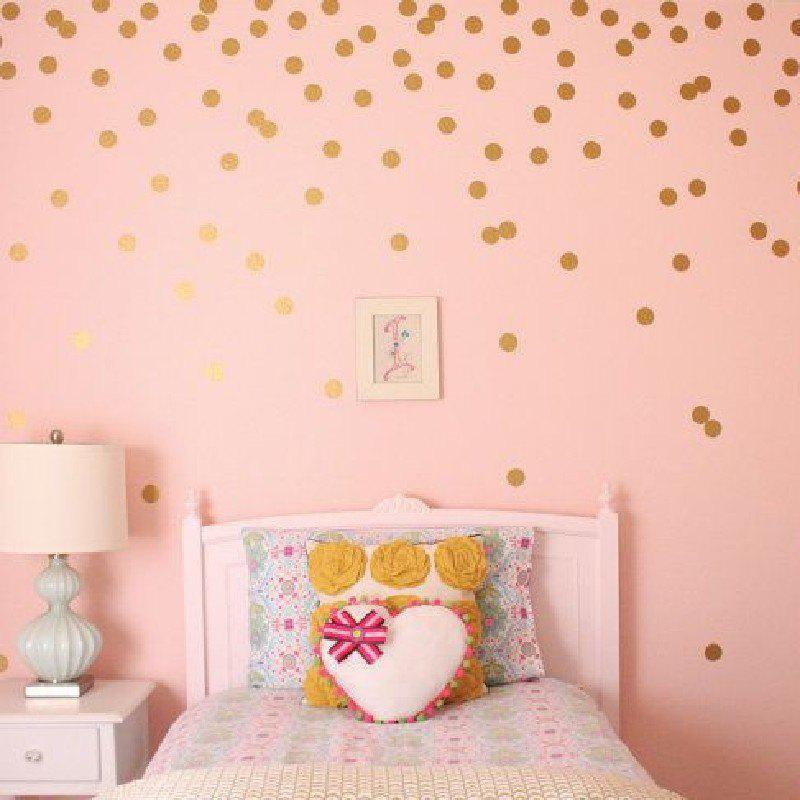 YEDUO 54 Gold Polka Dots Wall Sticker Baby Nursery Stickers Children Room Decals Home Decor DIY Vinyl Art 4cmHOME<br><br>Color: GOLDEN; Type: Plane Wall Sticker; Subjects: Abstract,Fashion; Function: Decorative Wall Sticker; Material: Vinyl(PVC); Suitable Space: Bedroom,Boys Room,Girls Room,Kids Room,Office; Quantity: 1;