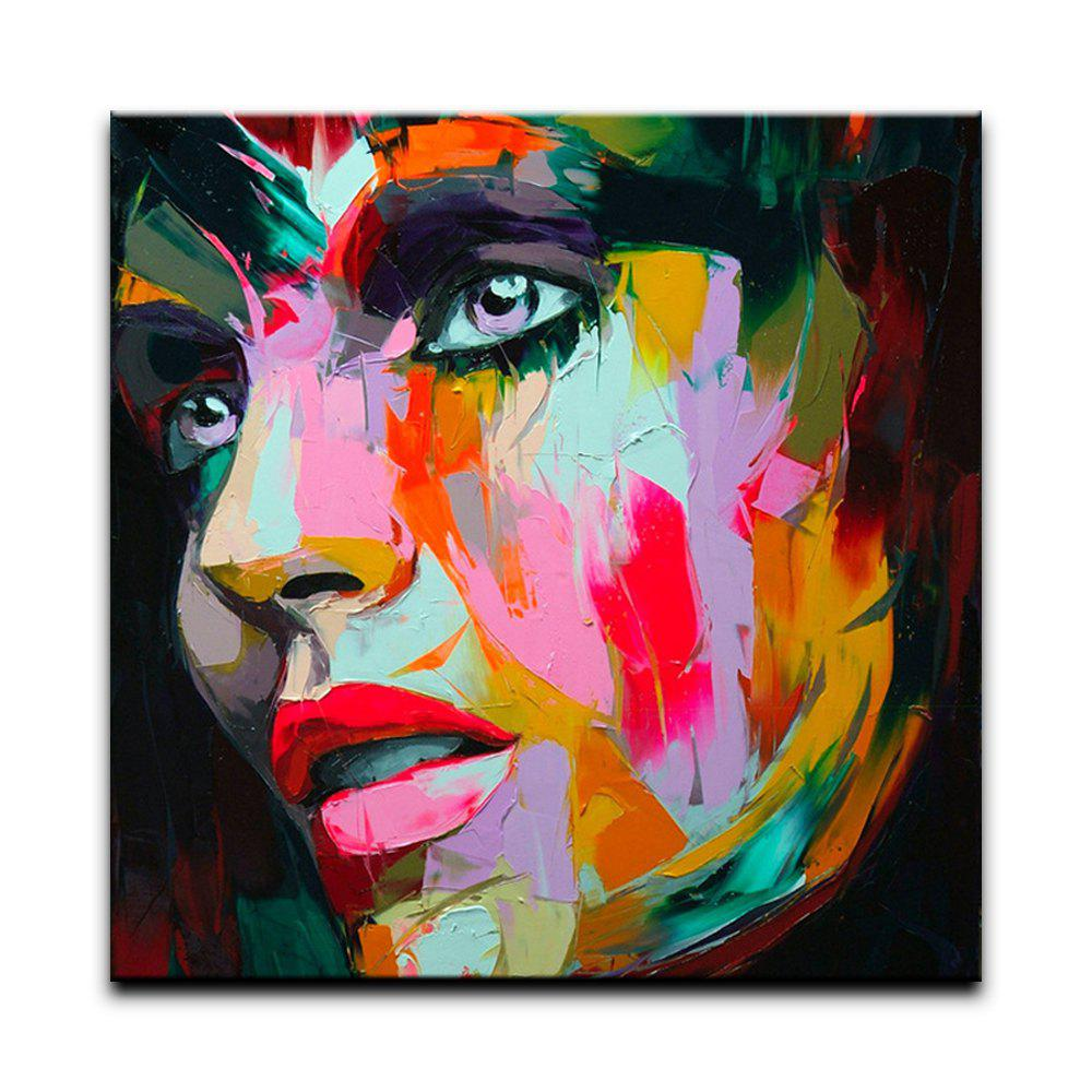 45 Off Yhhp Abstract Face Canvas Oil Painting Modern
