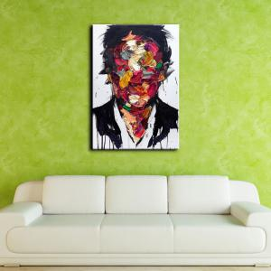YHHP Hand-Painted Abstract People One Panel Canvas Oil Painting for Home Decoration -