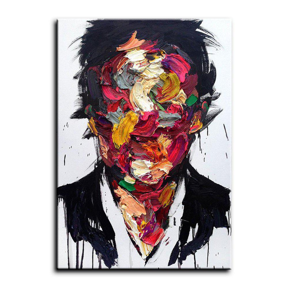 Affordable YHHP Hand-Painted Abstract People One Panel Canvas Oil Painting for Home Decoration