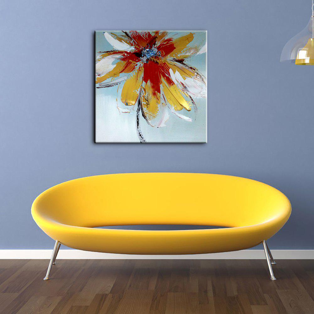 Red/orange Yhhp Hand Painted Oil Painting Abstract Modern Flowers ...