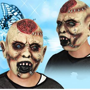 MCYH Halloween Horror Ghost Masks Spoof Moving Props - COLORMIX