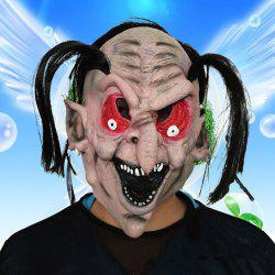 MCYH Red Eyes Black Mouth Halloween Masks Costume Party - COLORMIX