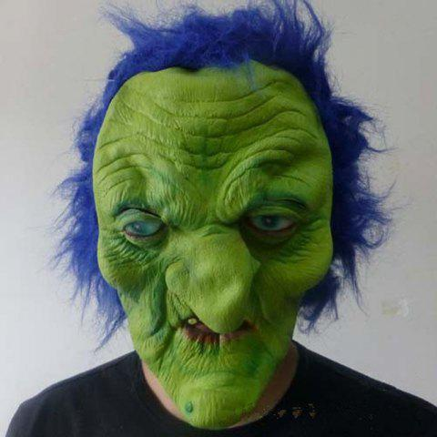 Shops MCYH Wacky Halloween Mask Green Face Blue Hair - FERN  Mobile