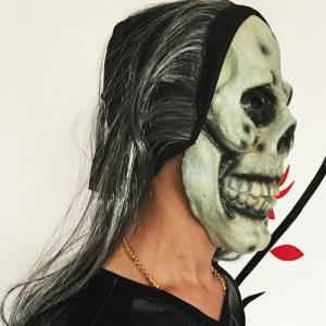 MCYH Scary Latex Halloween Makeup Skull Face Mask -