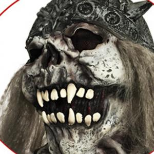 Scary Long Hair Skull Halloween Mask - COLORMIX