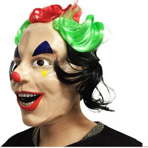 MCYH 544 Halloween Whimsy Clown Mask Masquerade Props - COLORMIX