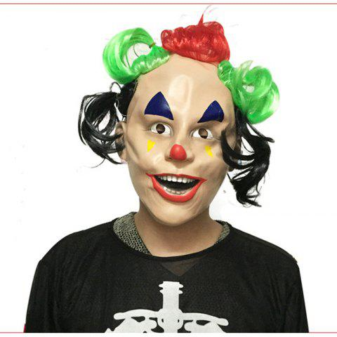 Hot MCYH 544 Halloween Whimsy Clown Mask Masquerade Props COLORMIX