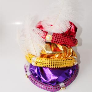 MCYH Adult Children Party Hat with Feather Show Halloween Party - FLAME