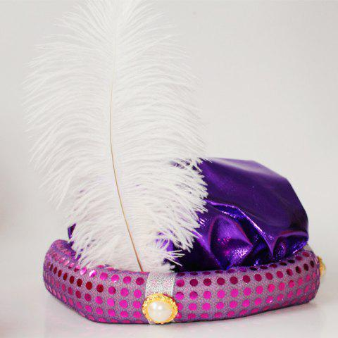 Best MCYH Adult Children Party Hat with Feather Show Halloween Party
