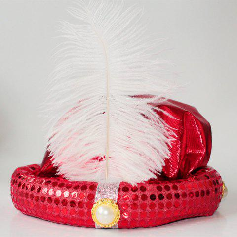 Cheap MCYH Adult Children Party Hat with Feather Show Halloween Party FLAME