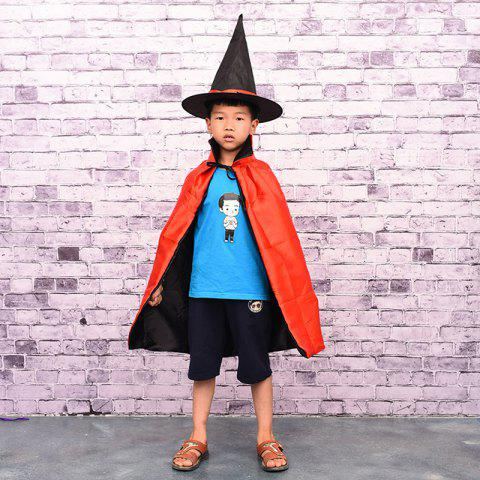 Best MCYH 569 Halloween Cosplay Witch Cloak Cape Cap Kids Christmas Party Show Costume RED
