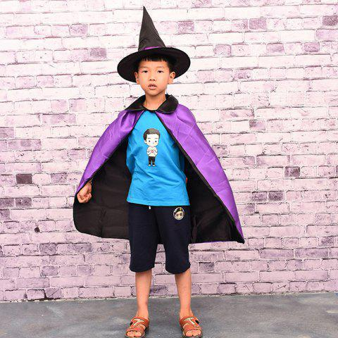Affordable MCYH 569 Halloween Cosplay Witch Cloak Cape Cap Kids Christmas Party Show Costume