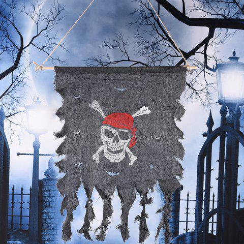 Sale MCYH Halloween Pirate Flags Banner Festival Home Decoration - GRAY  Mobile