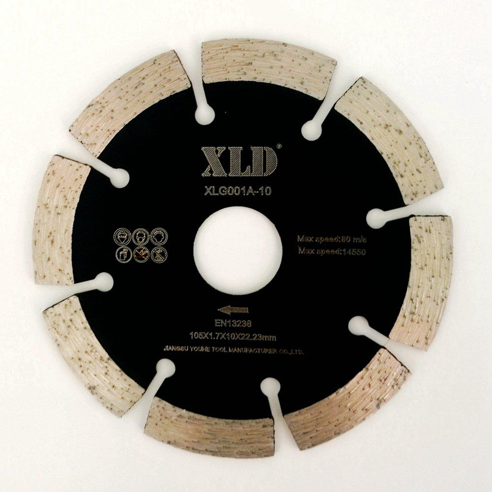 Shop XLD 105mm Diamond Cold-pressed Segmented Saw Blade for Dry Cutting